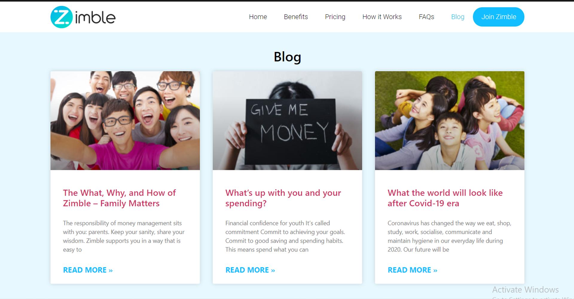 Zimble Blog Page
