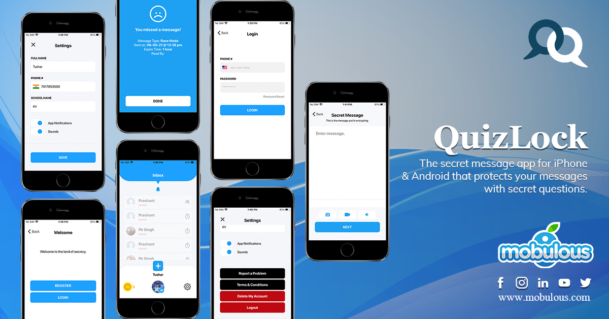 QuizLock- Android Chat App Development