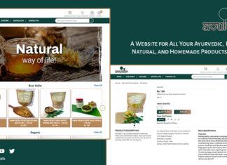 Ayurvedic eCommerce Website Herbal, Natural, and Homemade