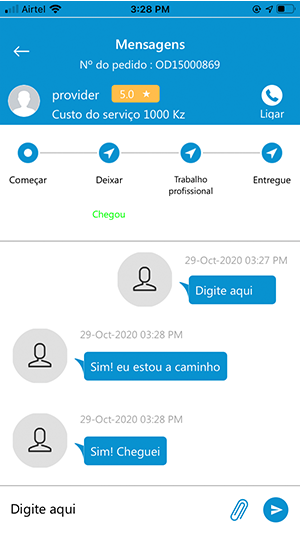 User Chat Screen