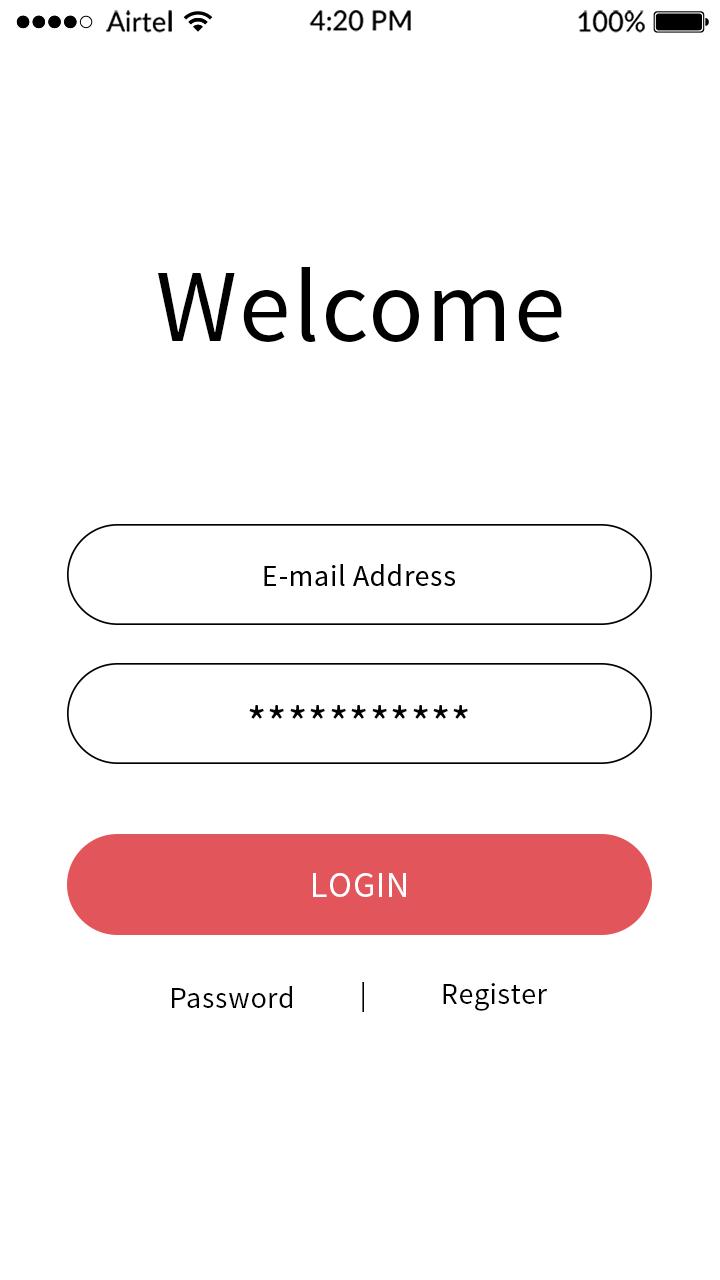 Login Passenger App