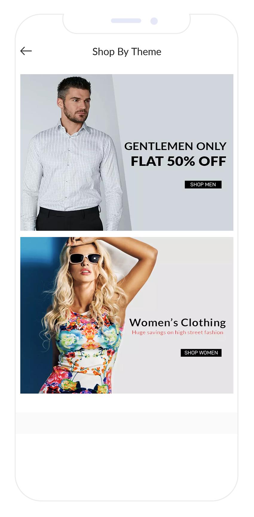 E-commerce Shop by Theme