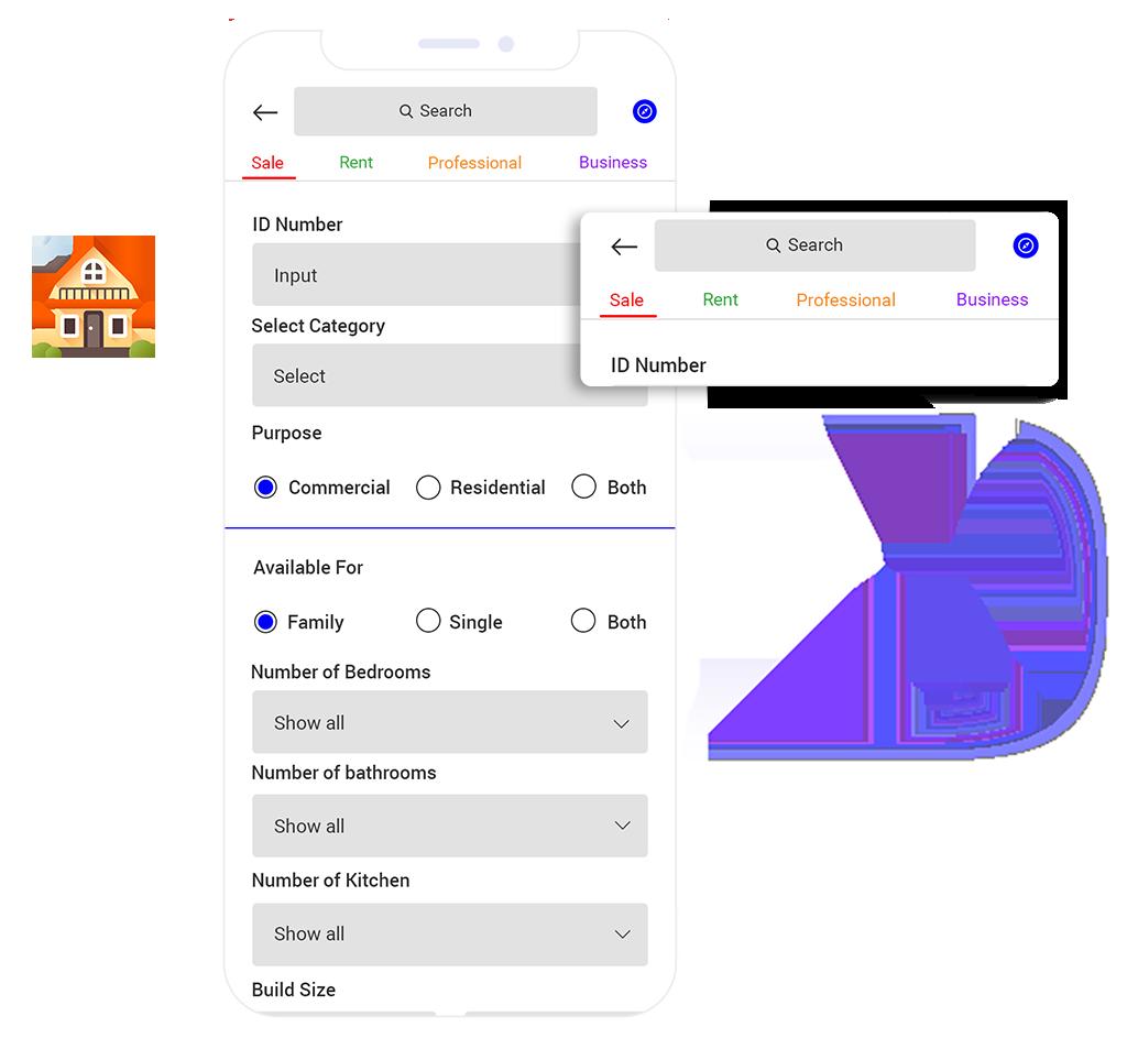 Real Estate App Development Search