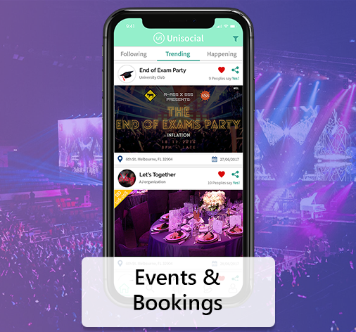 Events and Bookings App Solution
