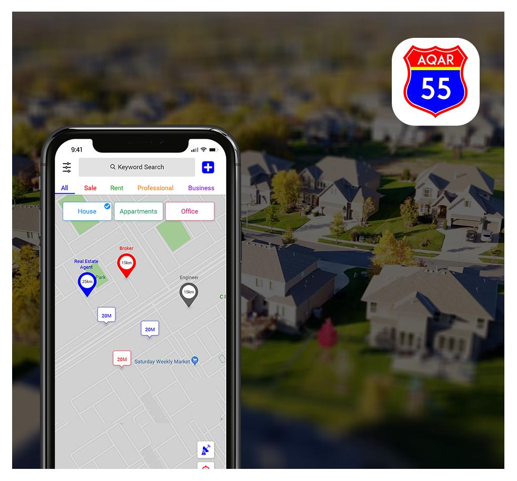 Aqar 55 Real Estate App Development