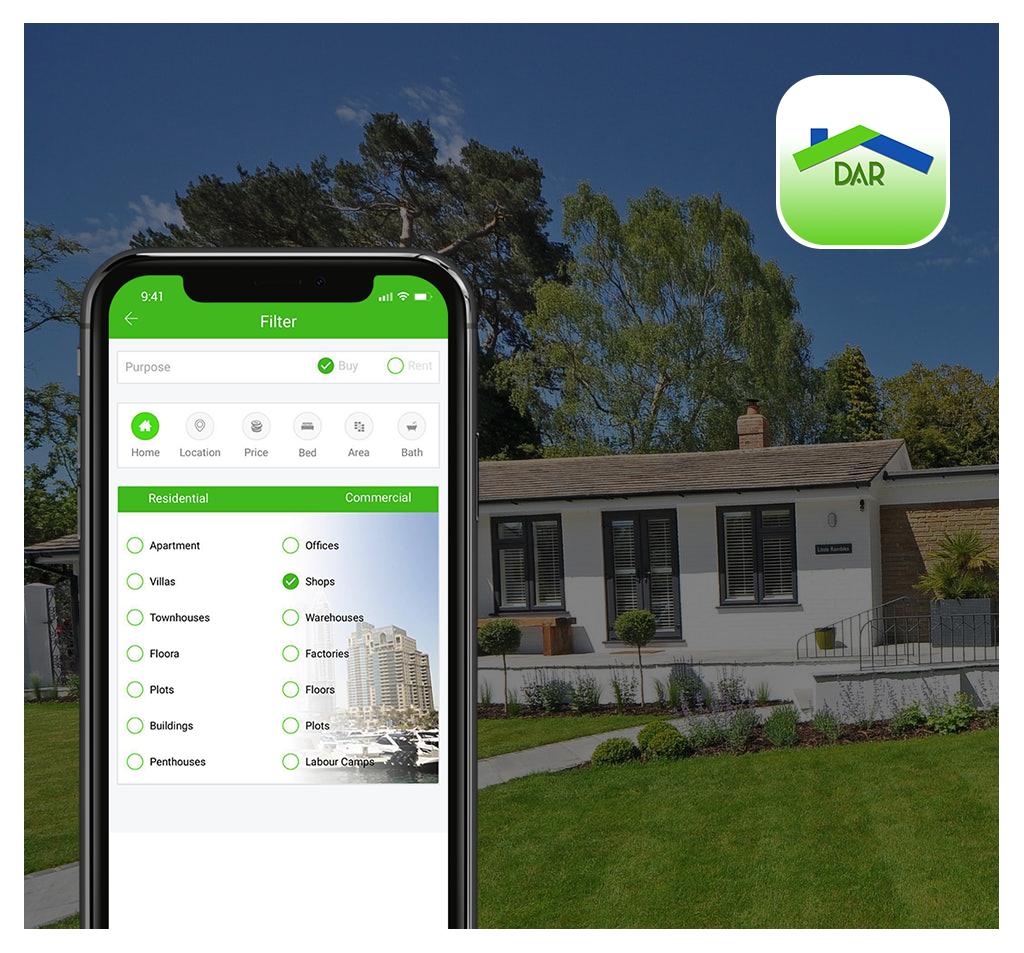 Dar properties Real Estate App Development
