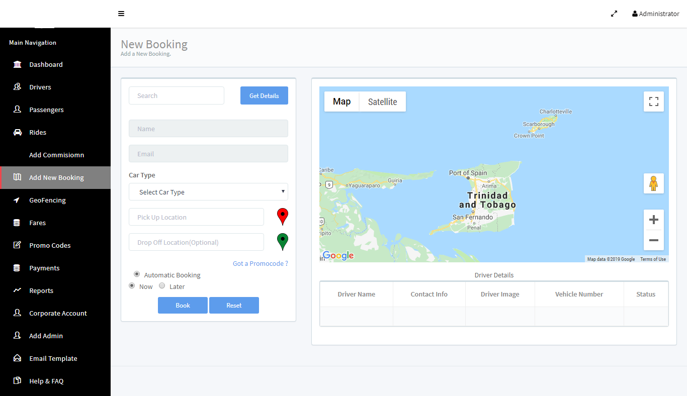 Business Admin New Booking Management