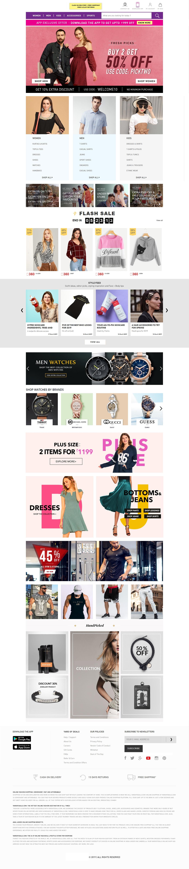 E-commerce Web Home