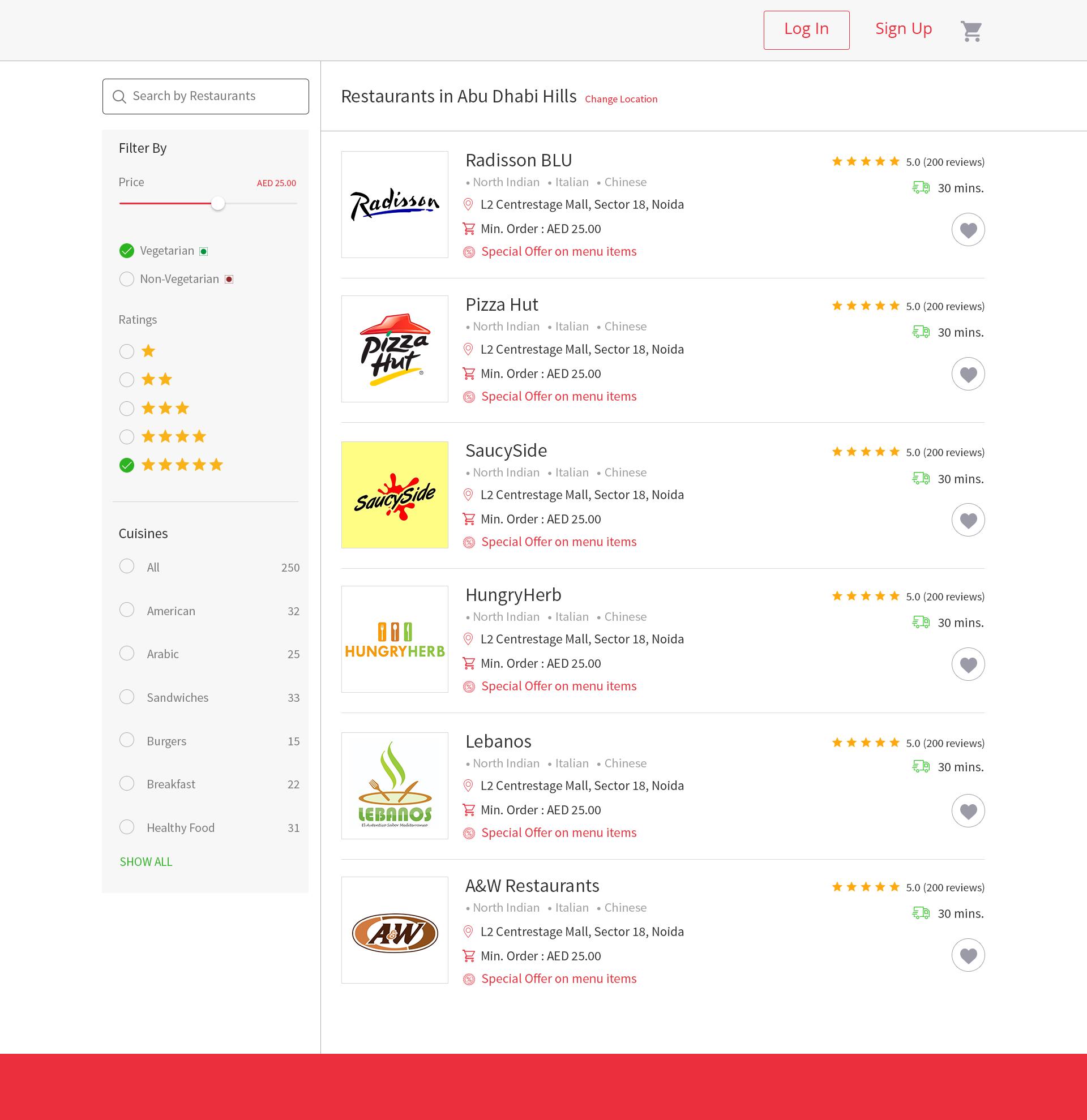 Restaurant Listing Web